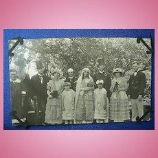 Kissing Cousins~Hillbilly Wedding 1928 RPPC