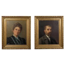 Pair of 19th Century French Portraits
