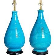 Pair of Frederick Cooper Ceramic Lamps