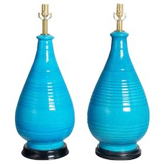 Pair of Frederick Cooper Ceramic Lamps