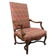19th Regence Style Fauteuil a la Reine or French Arm Chair.
