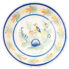 French HB Quimper Faience Bowl