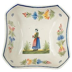French Henriot Quimper Bowl Faience