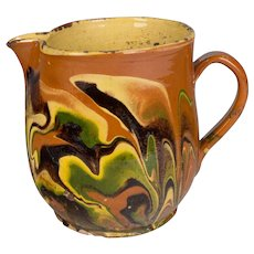 19th c. French Jaspe Pitcher