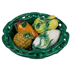 19th c. Italian Majolica Bowl with Squash