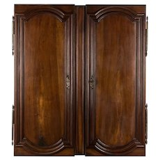 Pair of French Louis XIV Style Walnut Doors