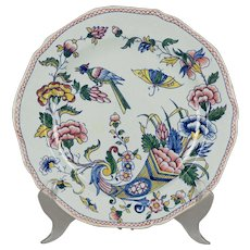 19th c. French Gien Faience Plate