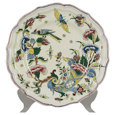 French Gien Faience Plate