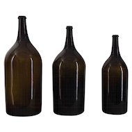 Set of 3 19th c. French Bottles