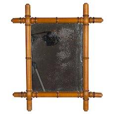 French Faux Bamboo Mirror Circa 1900