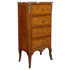 19th c. Louis XVI Style Chiffonier or Chest of Drawers
