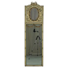 19th c. Louis XVI Style Trumeau Mirror