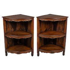 Pair of Louis XV Style Corner Cabinets