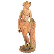 19th Century Italian Terracotta Garden Statue