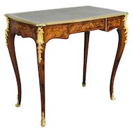 19th c. Louis XV Style Marquetry Ladies Desk