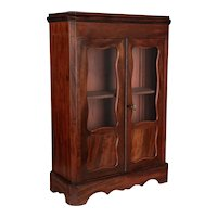French Mahogany Doll Furniture Armoire
