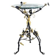 French Wrought Iron Gueridon or Side Table