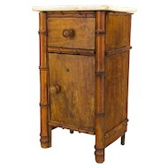 19th c. FrenchFaux Bamboo Miniature Cabinet or Doll Furniture