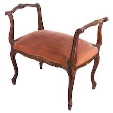 19th c. Louis XV Style Bench