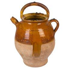 French Terracotta Vinaigrier, or Vinegar Pot