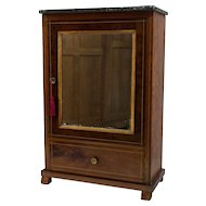 French Louis Philippe Style Miniature Doll Armoire