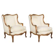 Pair of Louis XV Style French Arm Chairs