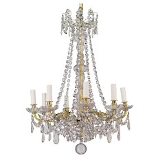 19th c. French Crystal Chandelier
