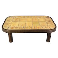 Roger Capron Ceramic Tile Coffee Table