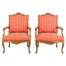 Set of Four 19th c. Louis XV Chairs