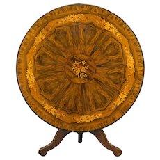 19th c. Italian Tilt Top Gueridon or Center Table