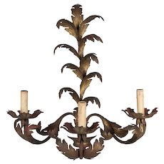 Italian Gilded Tole Sconce