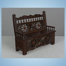 French Miniature Brittany Doll Bench