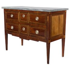 18th Century French Louis XVI Marquetry Commode