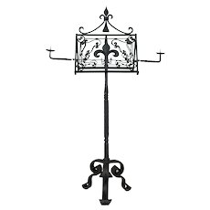 19th c. French Wrought Iron Lectern