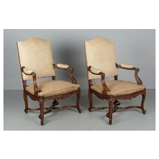 Set of 4 French Regence Style Fauteuils