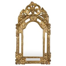18th c. French Regence Gilded Mirror