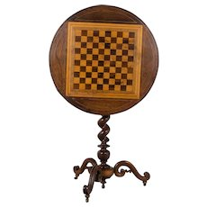 19th c. French Tilt Top Game Table