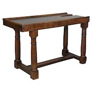 19th c. French Solid Walnut Work Table