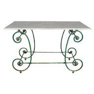 19th c. French Wrought Iron Pastry Table