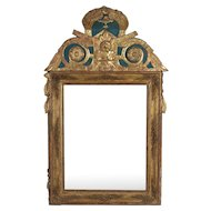 19th c. French Regence Style Gilded Mirror