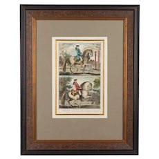 18th Century French Dressage Print
