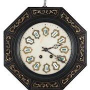 19th c. French Napoleon III Wall Clock