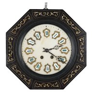 19th c. French Napoleon III Wall Clock
