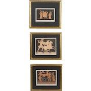 Set of Three 19th c. Classical Greek Prints