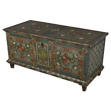 19th c. Bavarian Painted Chest