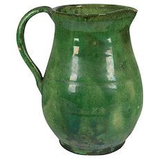 19th c. French Terracotta Pitcher