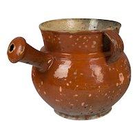 19th c. French Glazed Terracotta Pot