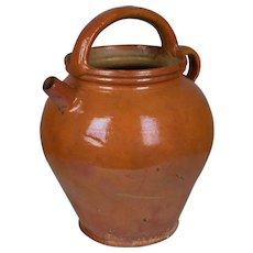 French Glazed Terracotta Jug