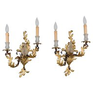 Pair of French Louis XV Style Tole Sconces
