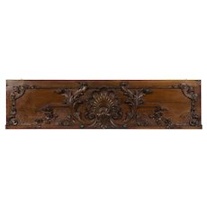19th c. French Carved Walnut Architectural Panel